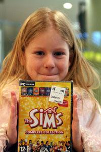 Bilden heter Emmy_med_The_Sims.jpg